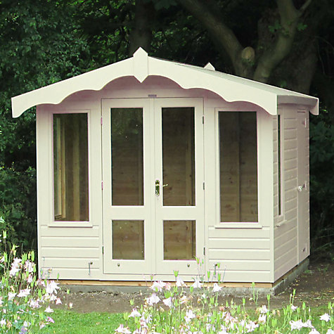 Buy Crane 3 x 2.5m Storage Chalet, Door on Right, FSC-certified (Scandinavian Redwood) Online at johnlewis.com