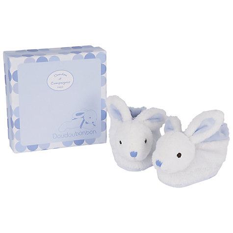 Buy Doudou et Compagnie Baby Rabbit Booties Gift Box, Blue Online at johnlewis.com