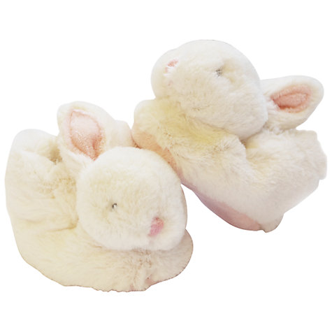 Buy Doudou et Compagnie Baby Rabbit Booties Gift Box, Pink Online at johnlewis.com