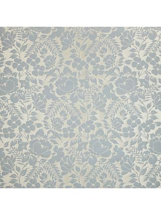 John Lewis & Partners Wild Woven Floral Garden Furnishing Fabric, Duck Egg