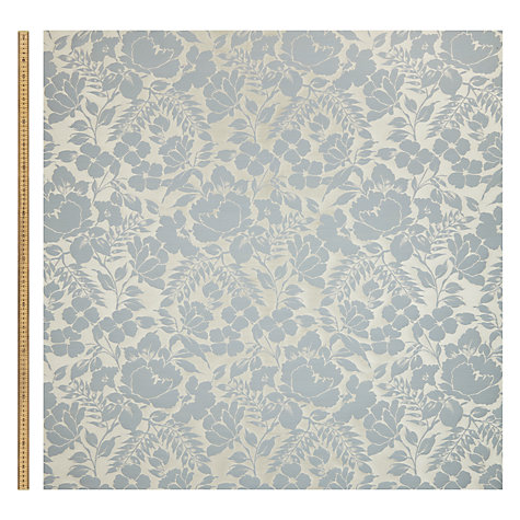 Buy John Lewis Wild Woven Floral Garden Furnishing Fabric, Duck Egg Online at johnlewis.com