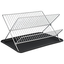 Buy John Lewis X-Shaped Dish Drainer, Chrome Online at johnlewis.com