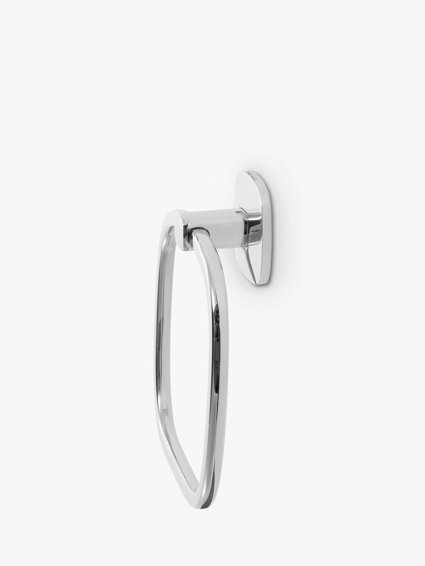 Dom i Meble STAINLESS STEEL DESIGNER SQUARE TOILET ROLL HOLDER TOWEL RING BATHROOM ACCESSORY Uchwyty na papier toaletowy