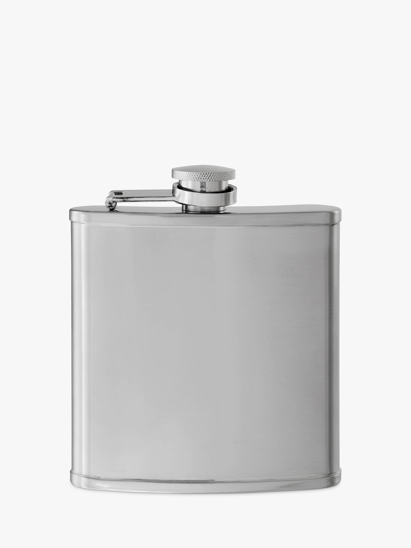 BuyJohn Lewis & Partners Stainless Steel Hip Flask, 165ml Online at johnlewis.com