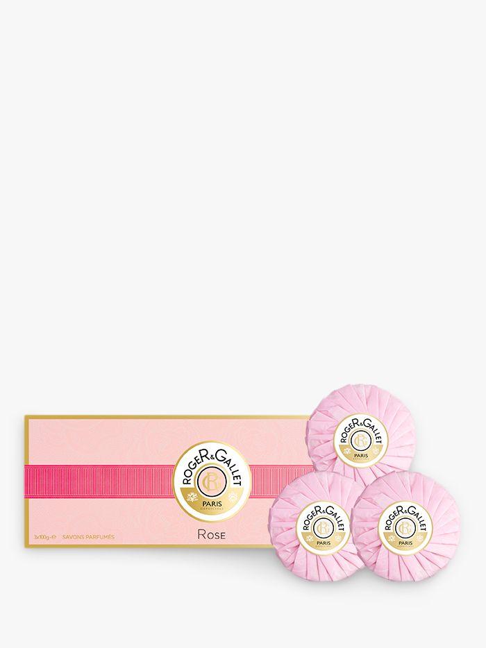 Roger & Gallet Roger & Gallet Rose Perfumed Soap Gift Set, 3 x 100g