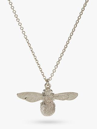 Alex Monroe Baby Bee Pendant Necklace, Silver