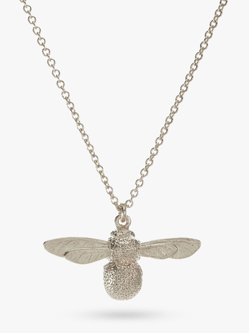 Alex Monroe Alex Monroe Baby Bee Pendant Necklace, Silver