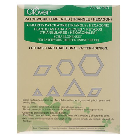 Buy Clover Patchwork Templates, Triangle / Hexagon Online at johnlewis.com