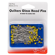 Buy Sew Easy Quilter's Glass Head Pins Online at johnlewis.com