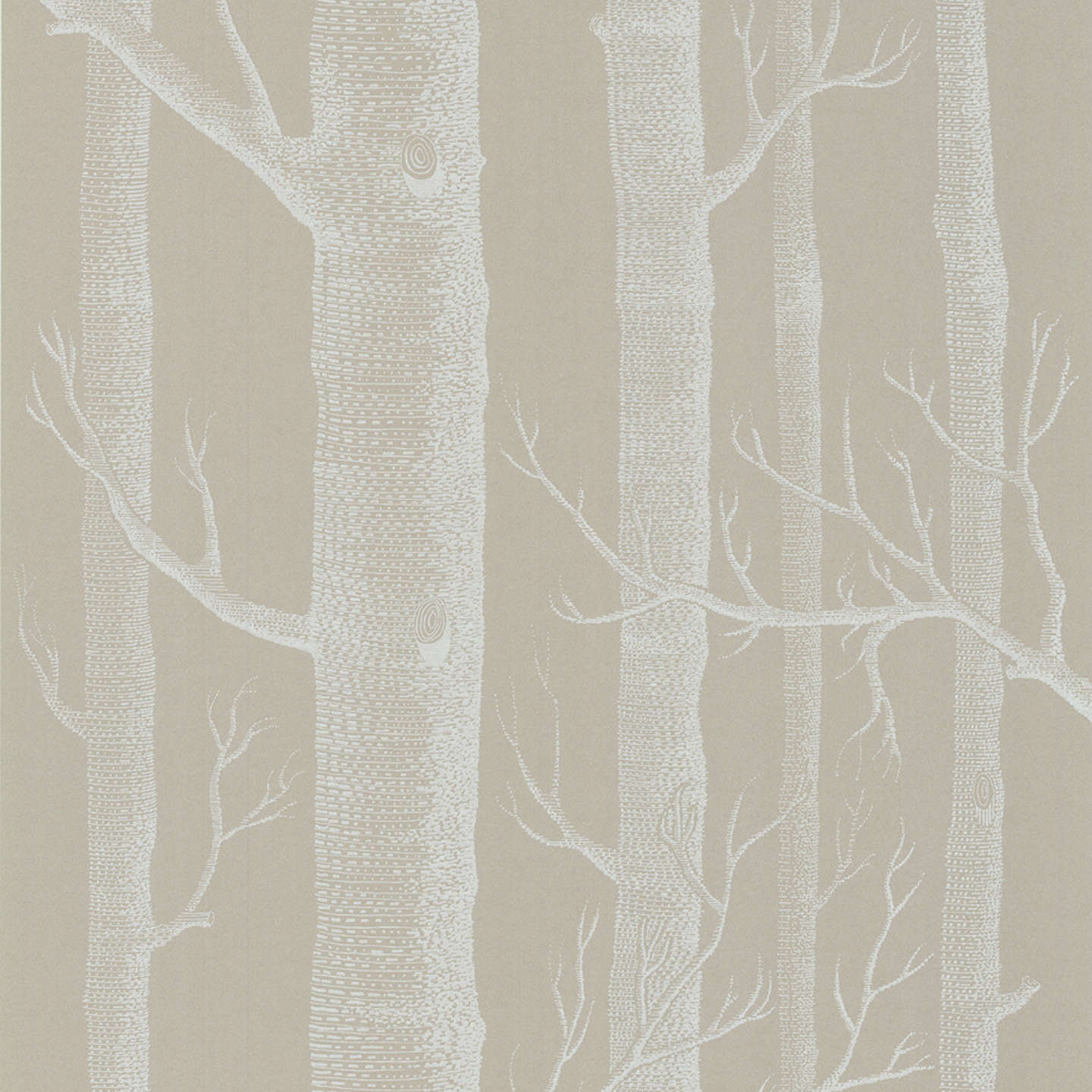 BuyCole Son Woods Wallpaper Putty White 69 12149 Online At Johnlewis