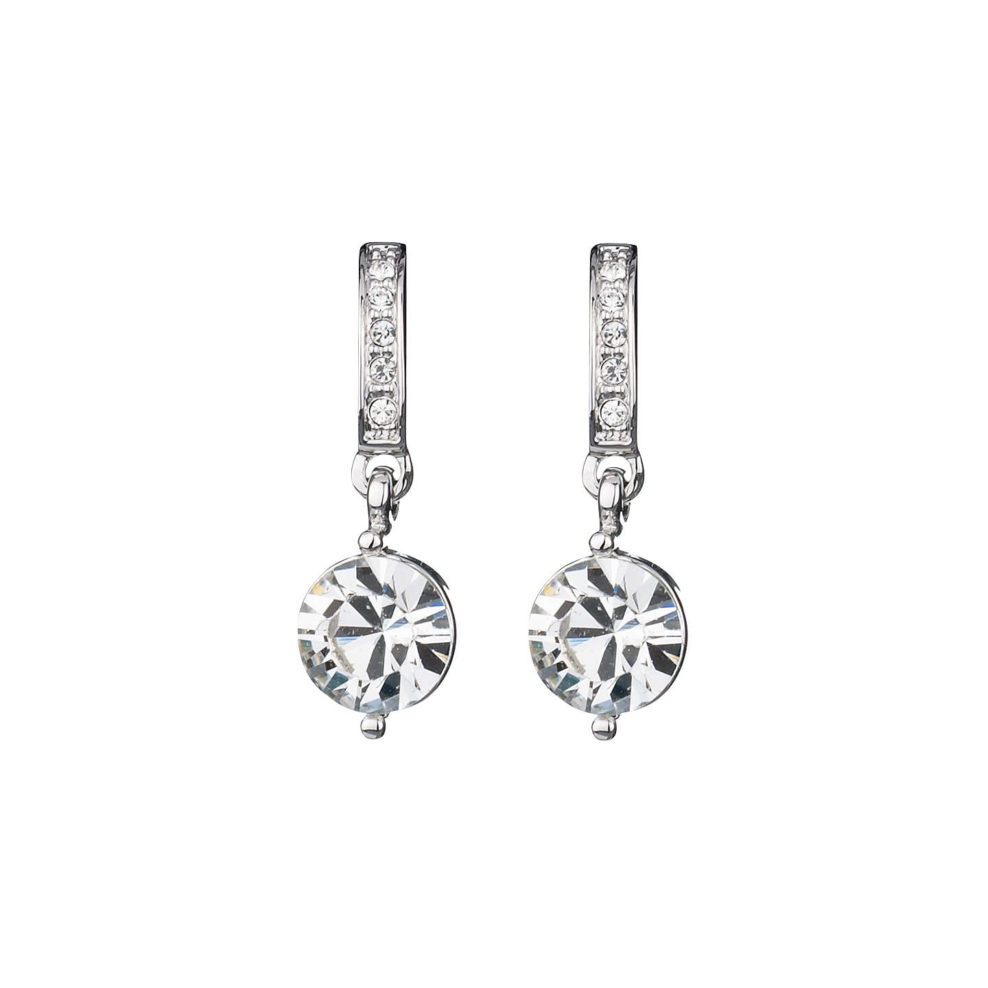 BuyFinesse Swarovski Crystal Drop Earrings, Rhodium Online at johnlewis.com