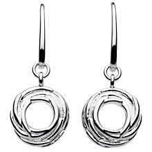 Buy Kit Heath Sterling Silver Nest Drop Earrings, Silver Online at johnlewis.com