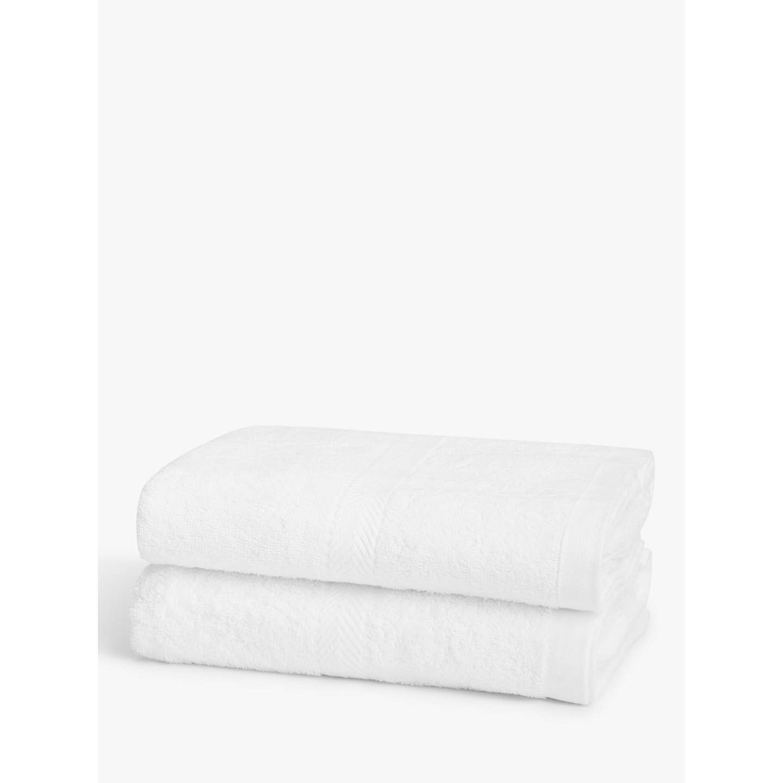 John Lewis Bath Towels, Pack Of 2, White At John Lewis