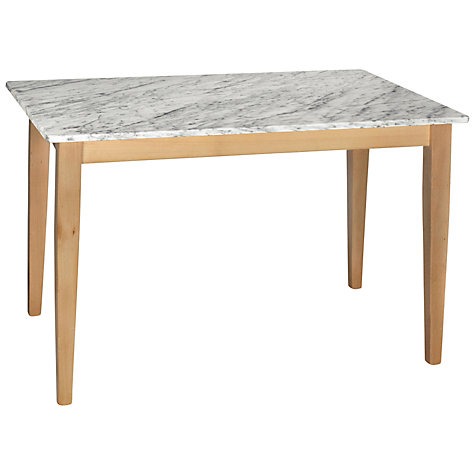 Buy HND Katrina 4 Seater Rectangular Dining Table, Carrara Online at johnlewis.com