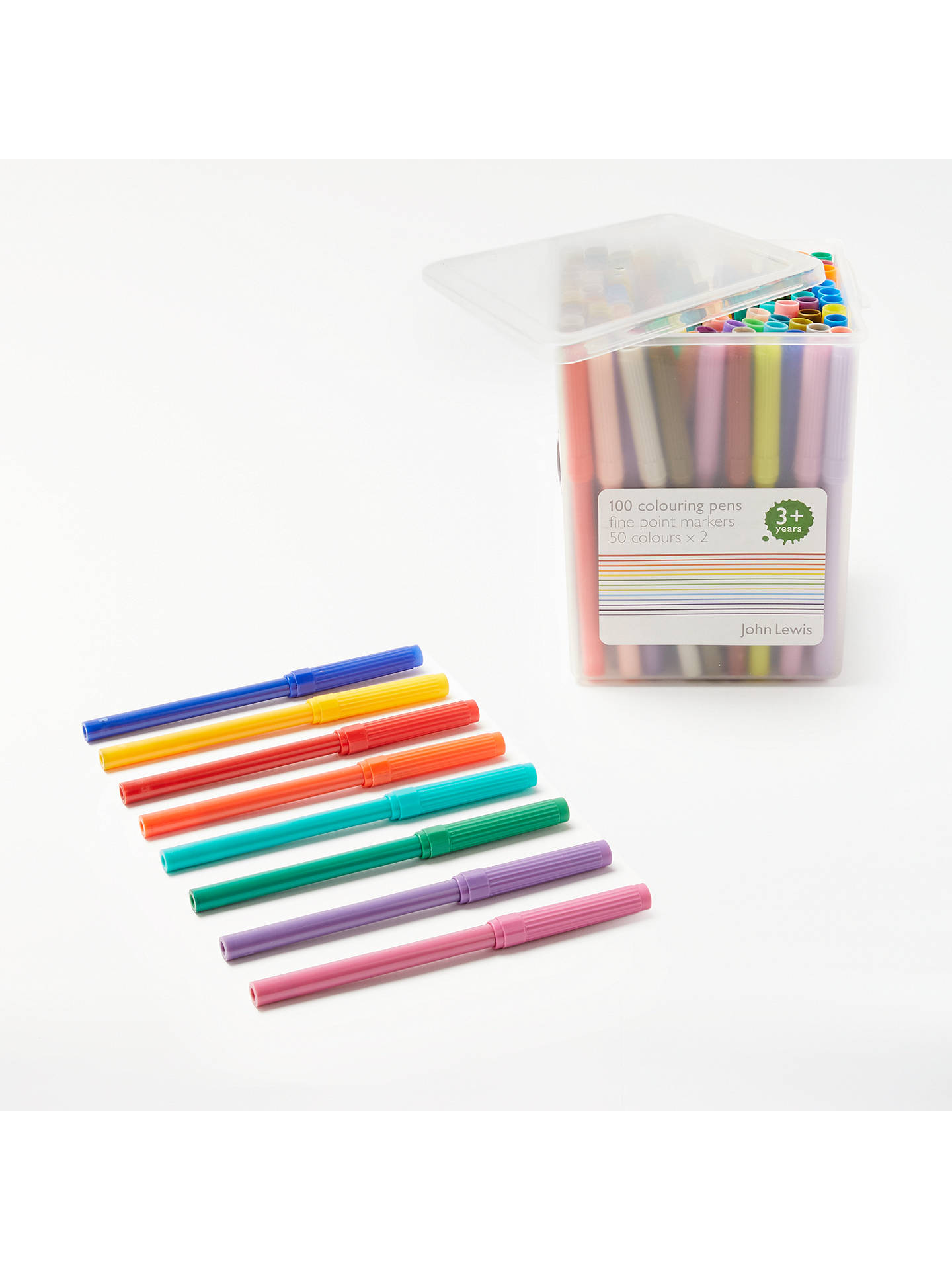 BuyJohn Lewis & Partners Colouring Pens in a Tub, Pack of 100 Online at johnlewis.com