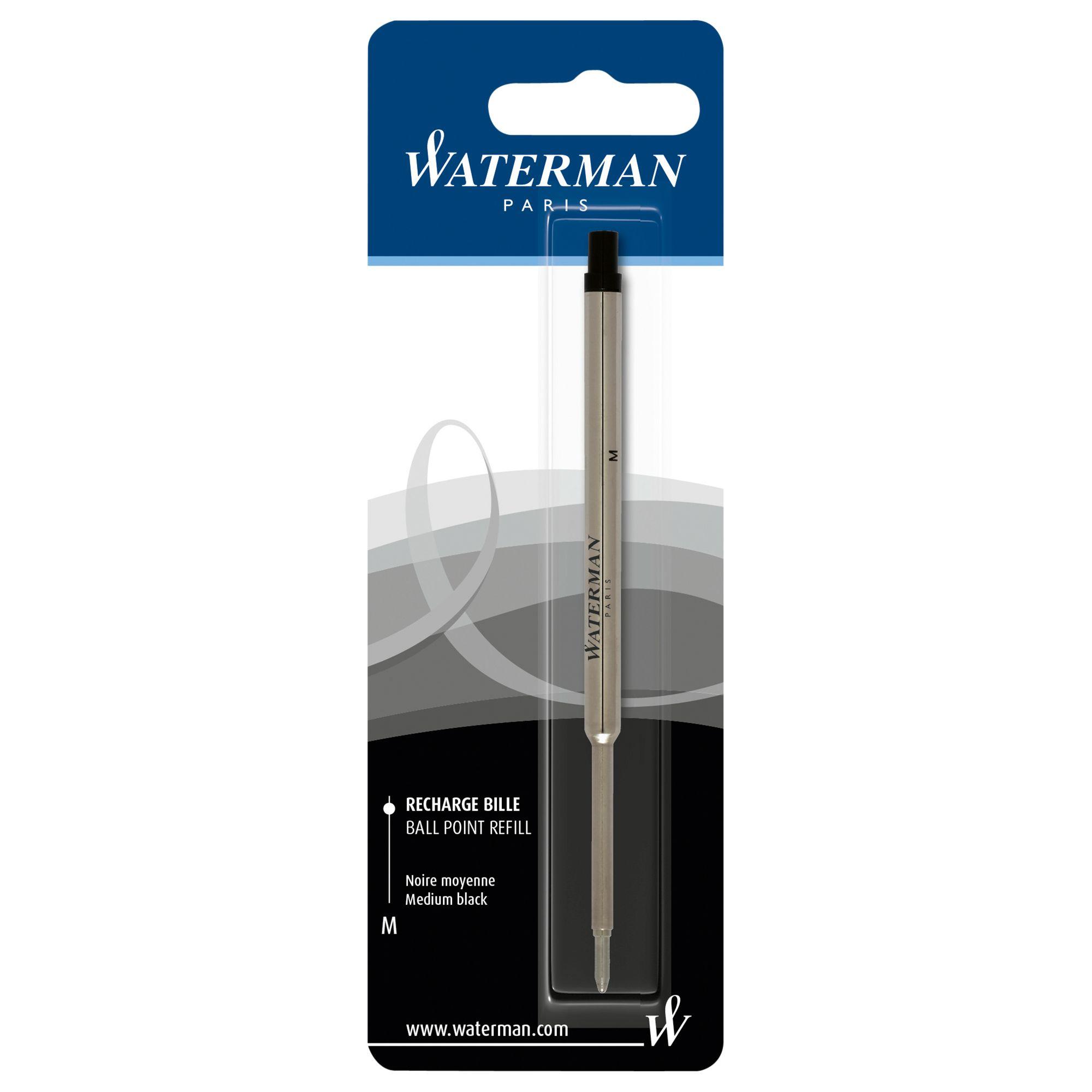 Waterman Waterman Ballpoint Refill, Black, Medium