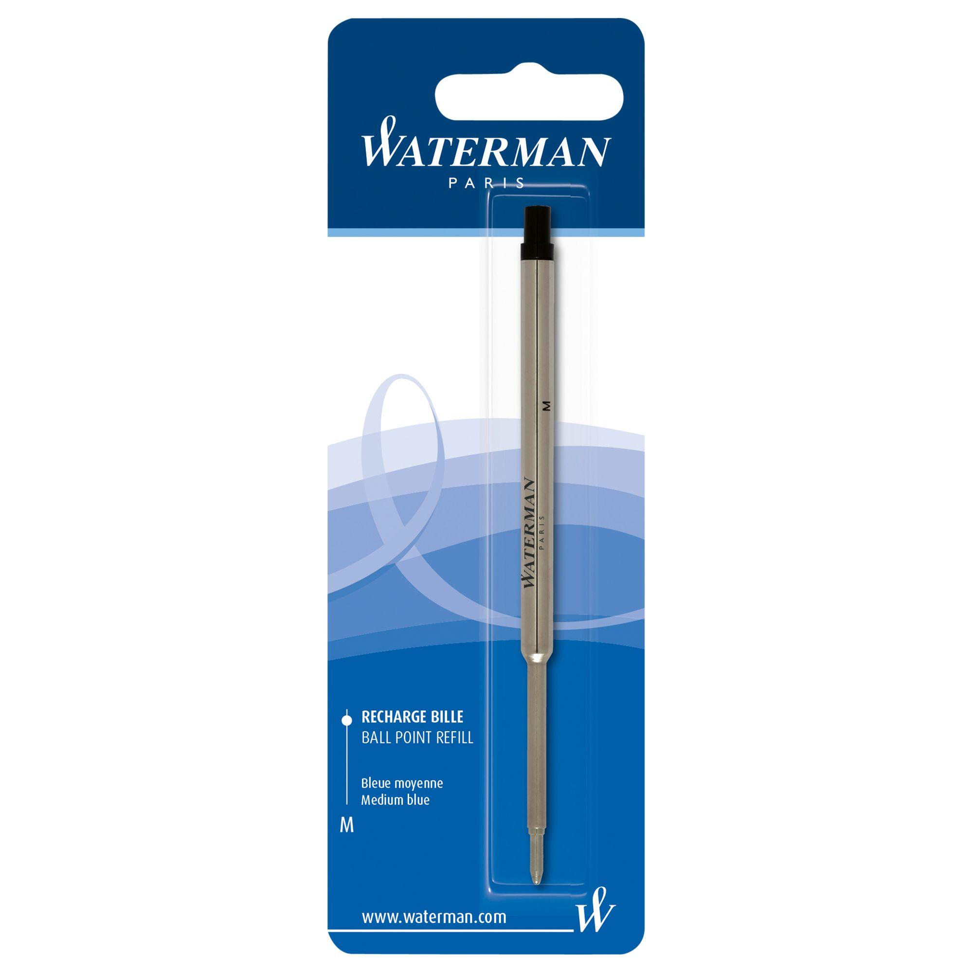Waterman Waterman Ballpoint Pen Refill, Blue, Medium