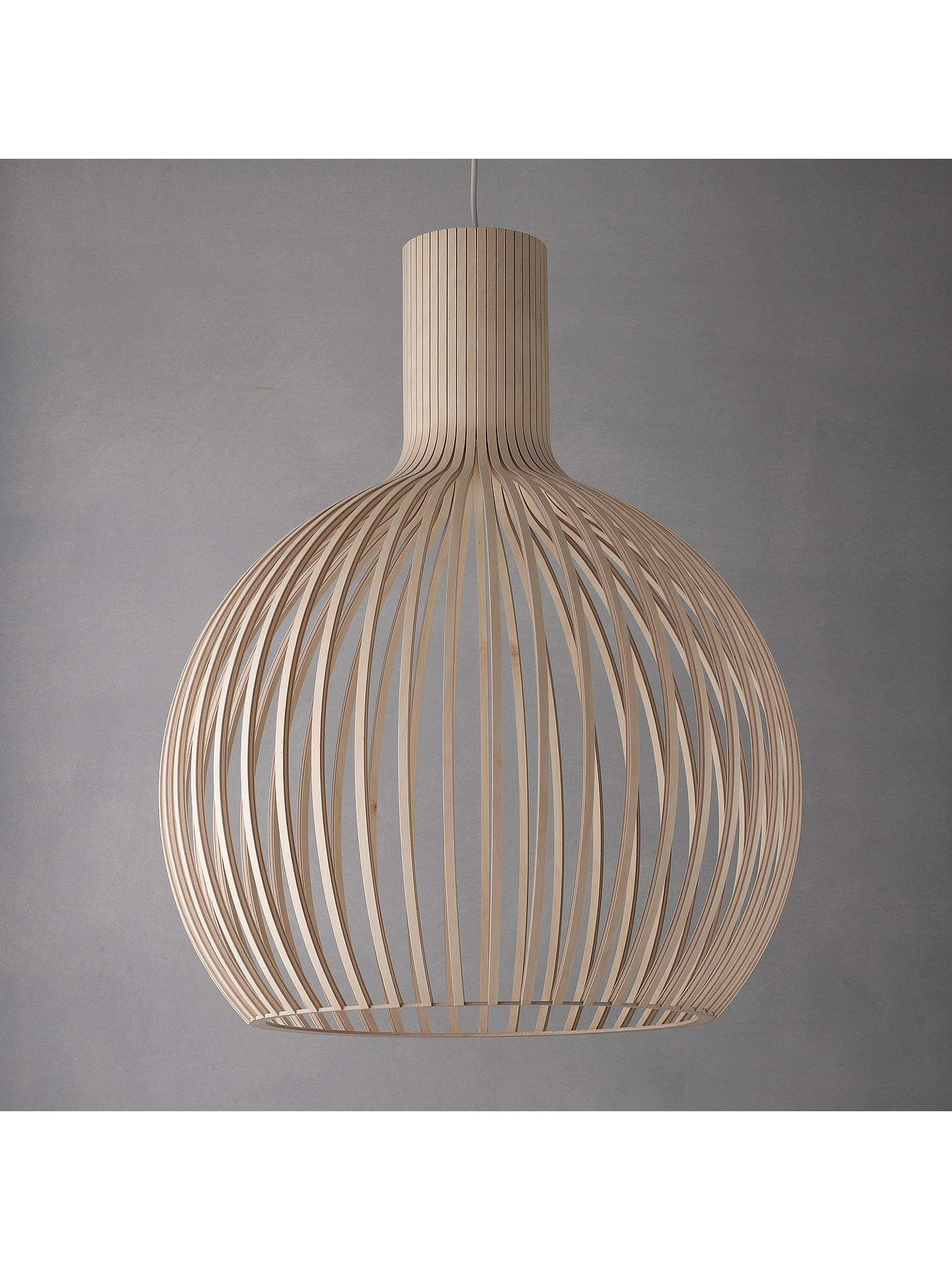 BuySecto Octo Ceiling Light, Birch Online at johnlewis.com