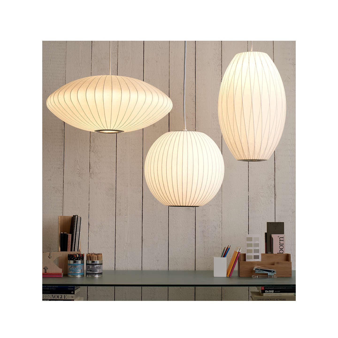 George Nelson Bubble Saucer Ceiling Light Medium At John
