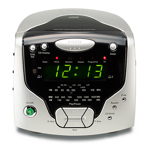 Buy ROBERTS CR9986 CD Clock Radio, Silver Online at johnlewis.com