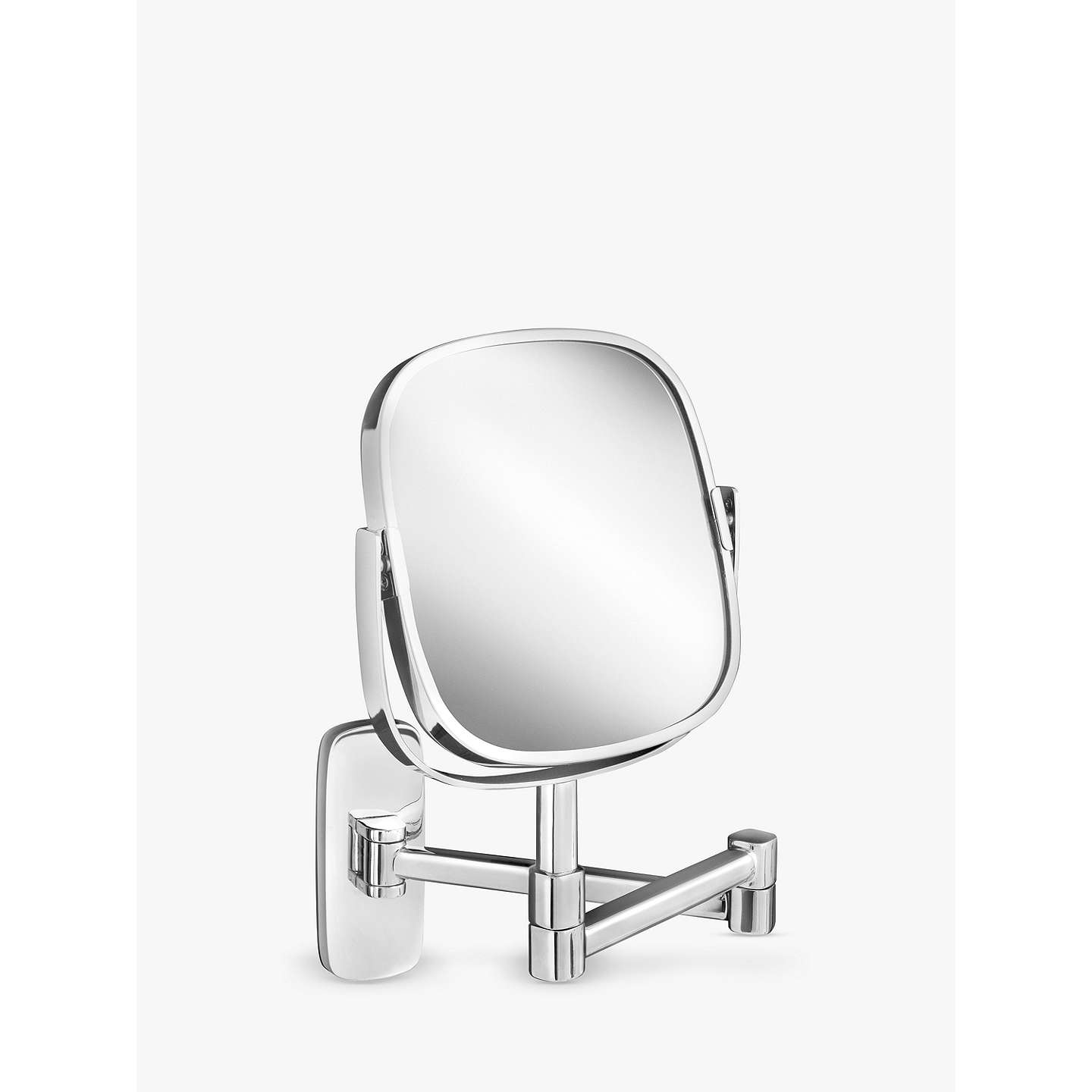 extendable mirror bathroom robert welch bathroom burford extendable magnifying wall 12807