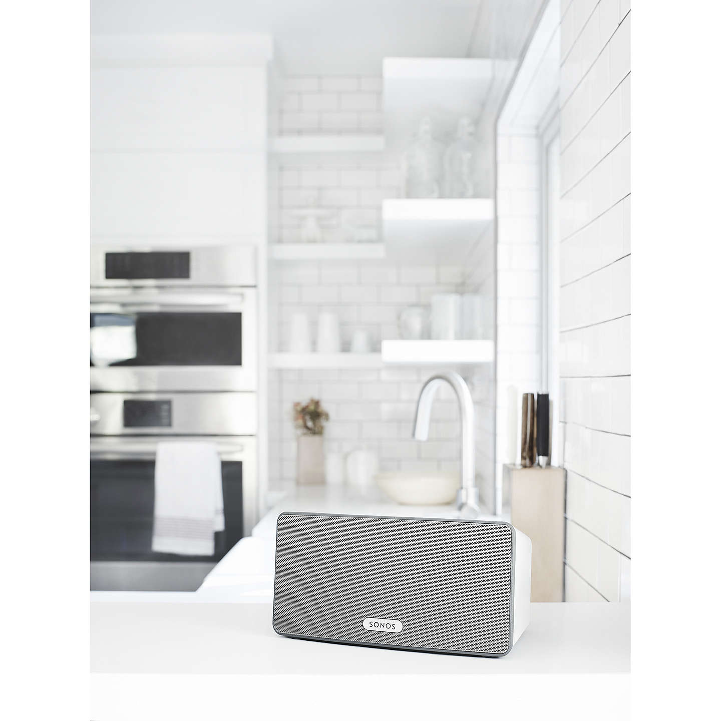 BuySonos PLAY:3 Smart Speaker, White Online at johnlewis.com