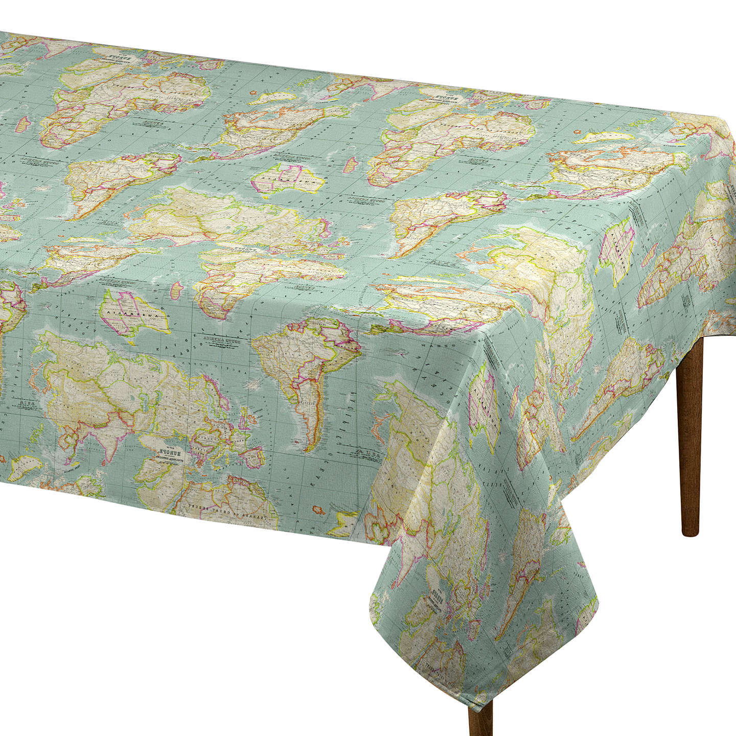 John lewis world map teflon coated tablecloth fabric at john lewis buyjohn lewis world map teflon coated tablecloth fabric blue online at johnlewis gumiabroncs Image collections