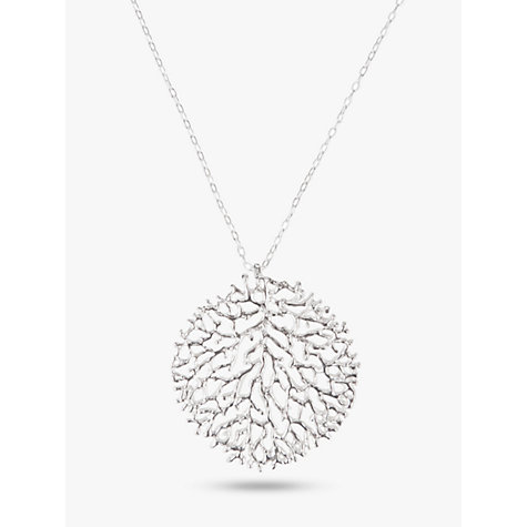 Buy nina breddal large filigree pendant necklace silver john lewis buy nina breddal large filigree pendant necklace silver online at johnlewis mozeypictures Image collections