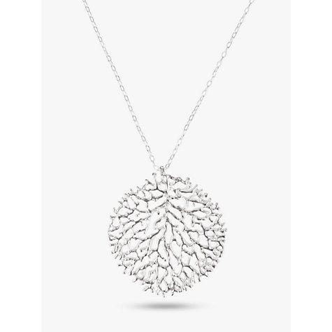 Buy nina b large filigree pendant necklace silver john lewis buy nina b large filigree pendant necklace silver online at johnlewis mozeypictures Choice Image