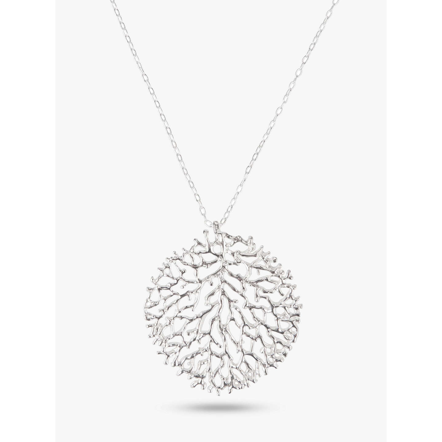 Nina b large filigree pendant necklace silver at john lewis buynina b large filigree pendant necklace silver online at johnlewis aloadofball Image collections