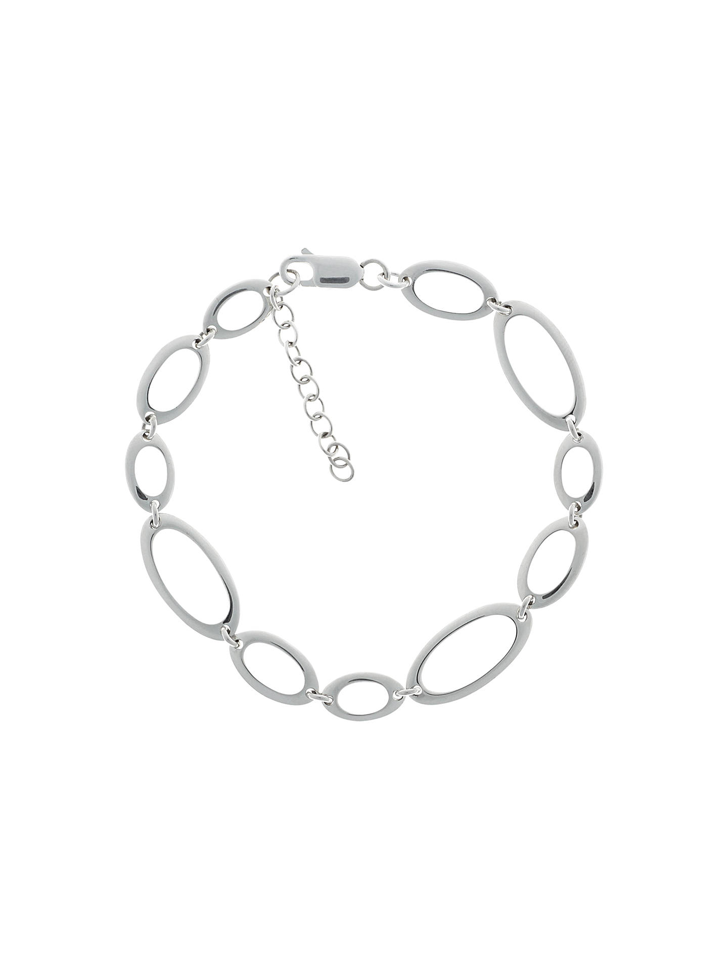 901cf585169 Buy Nina B Sterling Silver Oval Link Bracelet Online at johnlewis.com