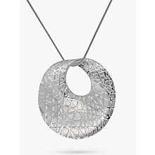 Buy Nina B Sandbrushed Open Pendant Necklace, Silver Online at johnlewis.com