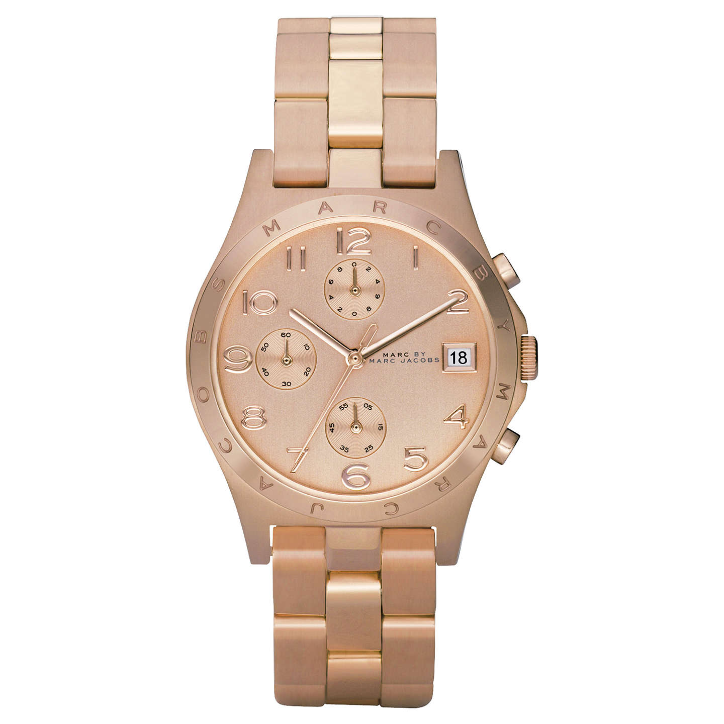 BuyMarc by Marc Jacobs MBM3074 Chronograph Rose Gold Bracelet Watch, Rose Gold Online at johnlewis.com