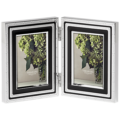 Image of Vera Wang for Wedgwood With Love Double Photo Frame, Noir, 2 x 3 (5 x 8cm)