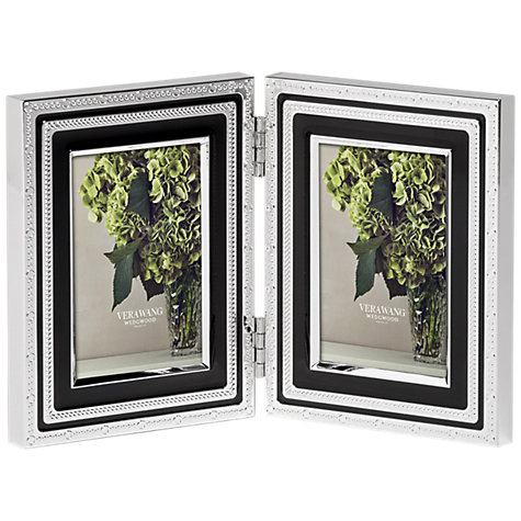buy vera wang for wedgwood with love double photo frame noir 2 x 3