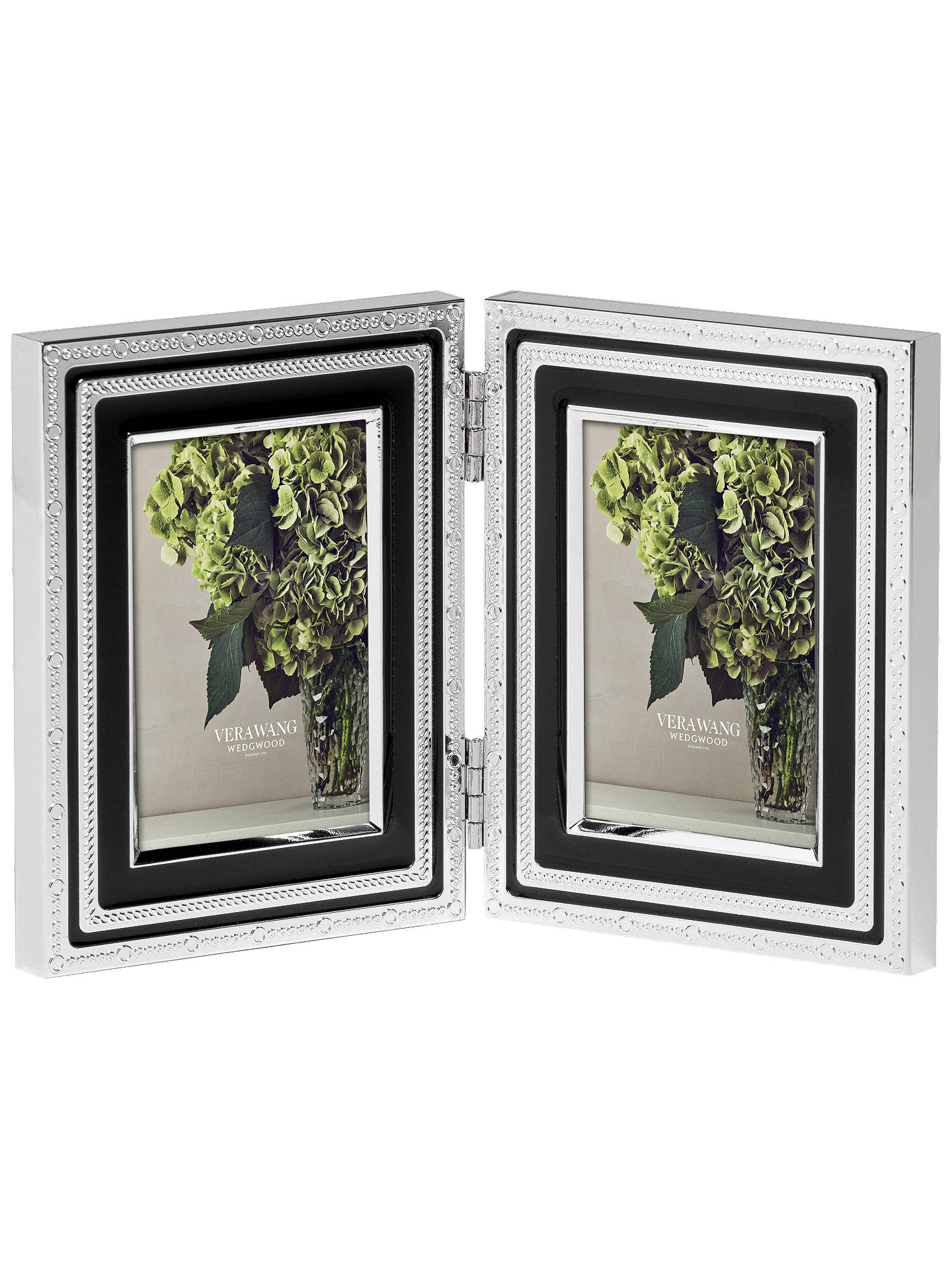 Vera Wang For Wedgwood With Love Double Photo Frame Noir 2 X 3 5