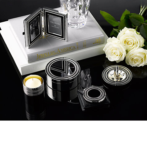 "Buy Vera Wang for Wedgwood With Love Double Photo Frame, Noir, 2 x 3"" (5 x 8cm) Online at johnlewis.com"