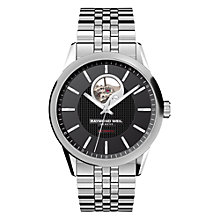Buy Raymond Weil 2710-ST-20021 Men's Freelancer Bracelet Strap Watch, Silver/Black Online at johnlewis.com
