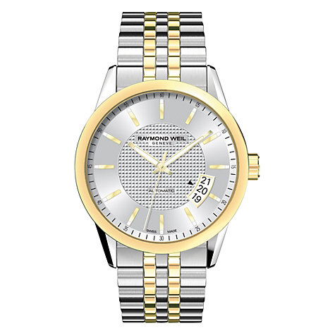 Buy Raymond Weil 2770-STP-65021 Men's Freelancer Two Tone Stainless Steel Bracelet Strap Watch, Silver/Gold Online at johnlewis.com