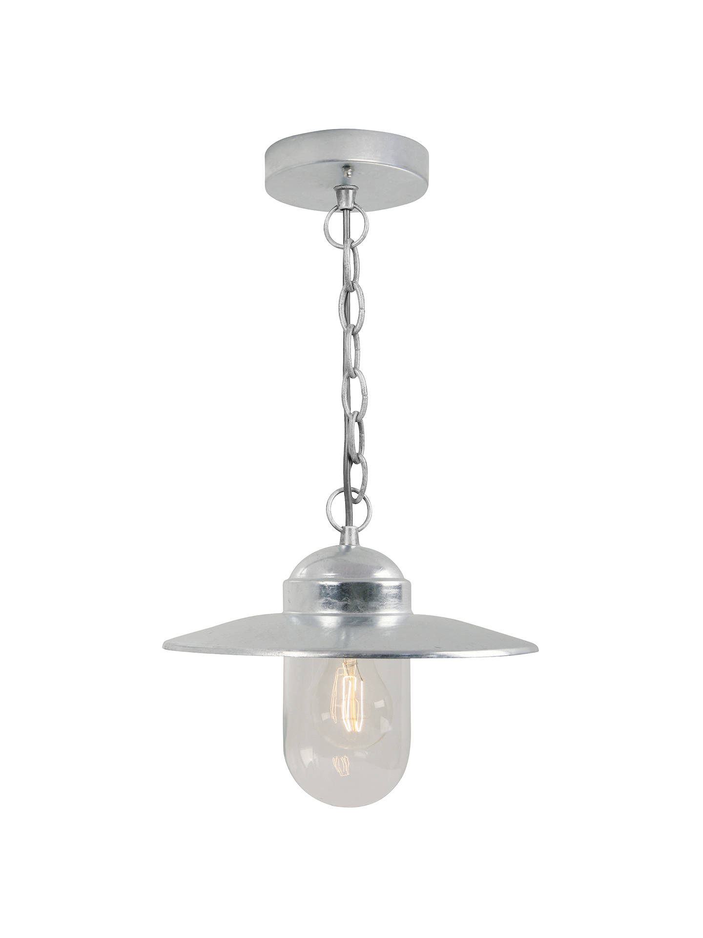 BuyNordlux Luxembourg Outdoor Pendant, Galvanized Steel Online at johnlewis.com