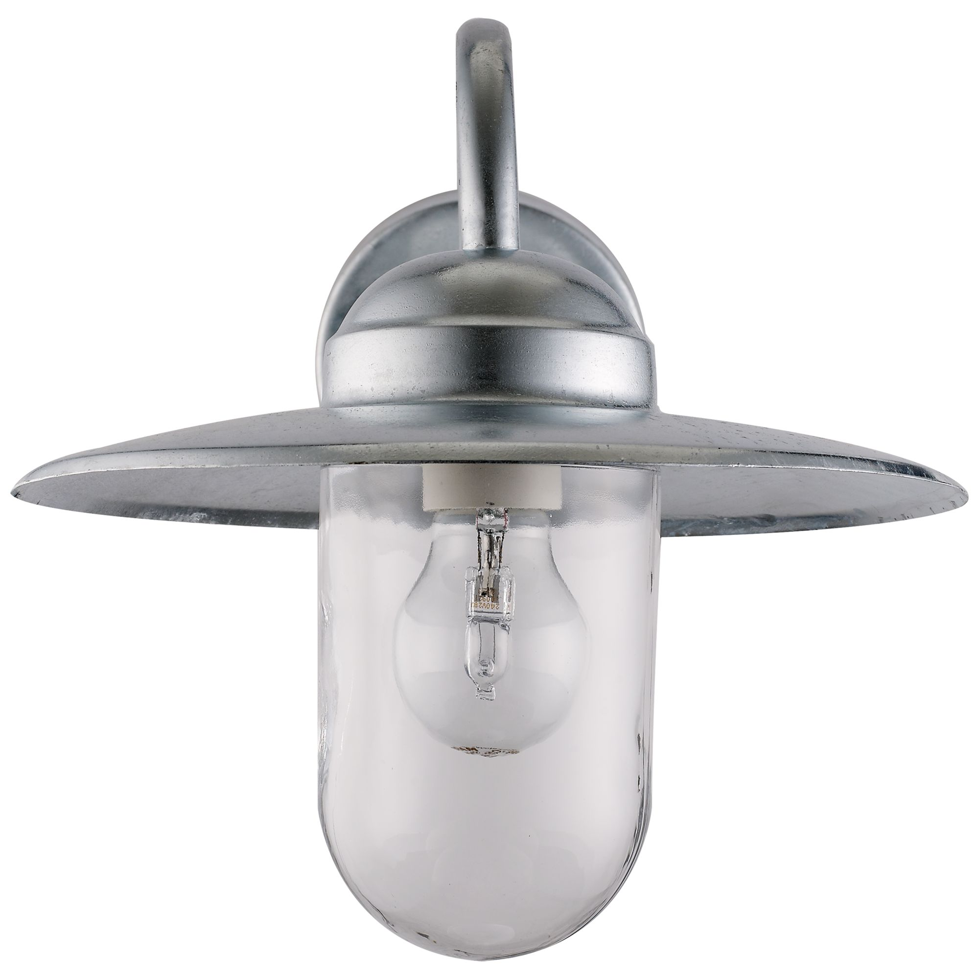 nordlux luxembourg outdoor wall light with pir sensor galvanised steel at lewis partners