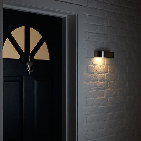 Buy Nordlux Arc Outdoor Wall Light, Stainless Steel Online at johnlewis.com
