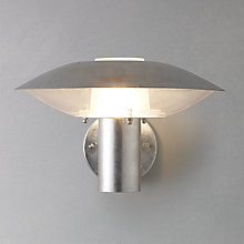 Buy Nordlux Disco Glavanised Steel Outdoor Wall Light Online at johnlewis.com