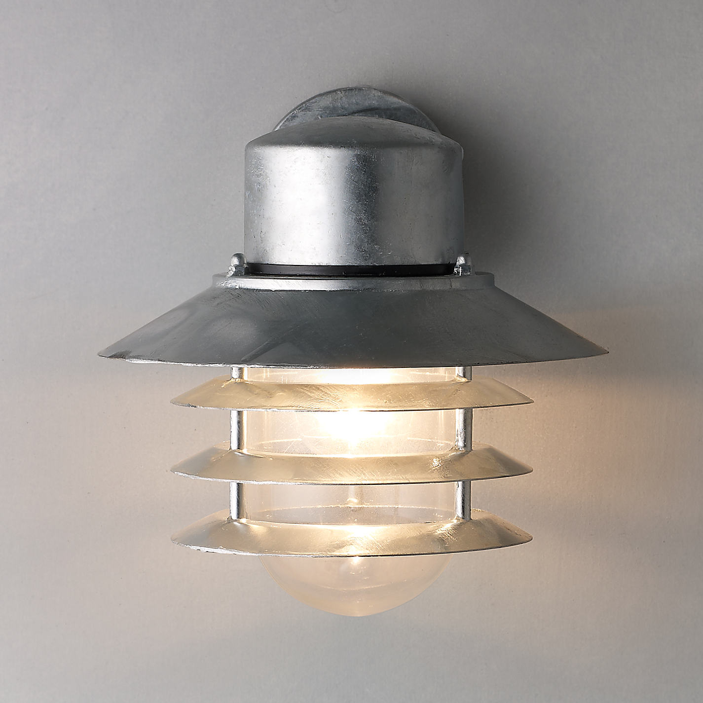 Buy Nordlux Vejers Outdoor Wall Light, Galvanised Steel Online At  Johnlewis.com ...