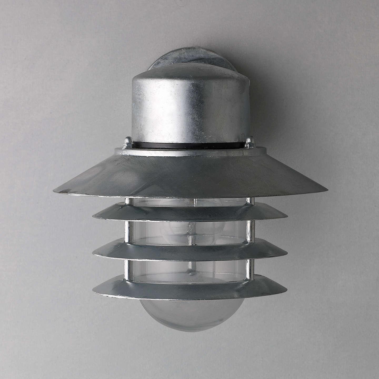 nordlux vejers outdoor wall light galvanised steel at. Black Bedroom Furniture Sets. Home Design Ideas