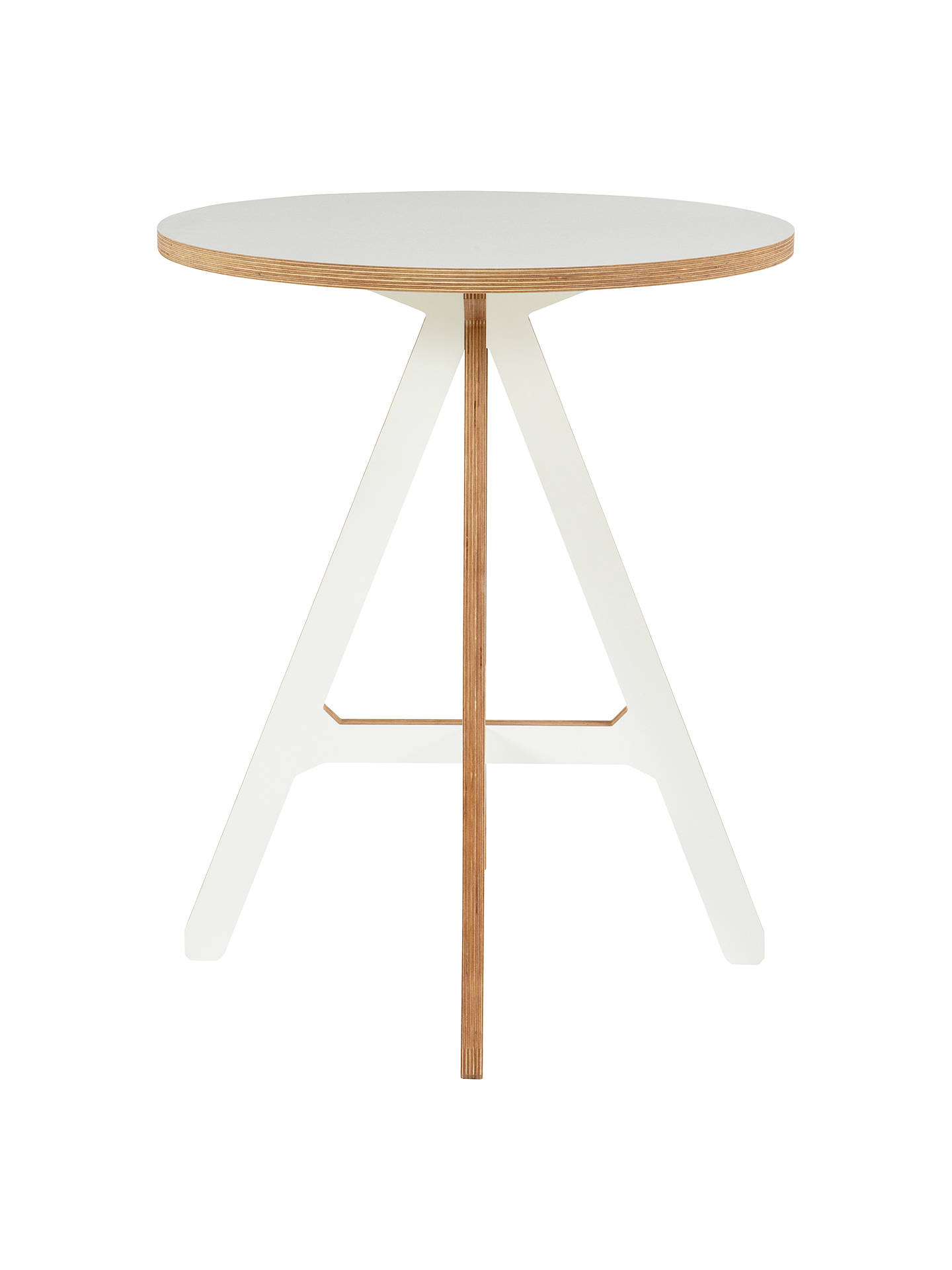 "Buy ByALEX ""A"" Side Table, White Online at johnlewis.com"