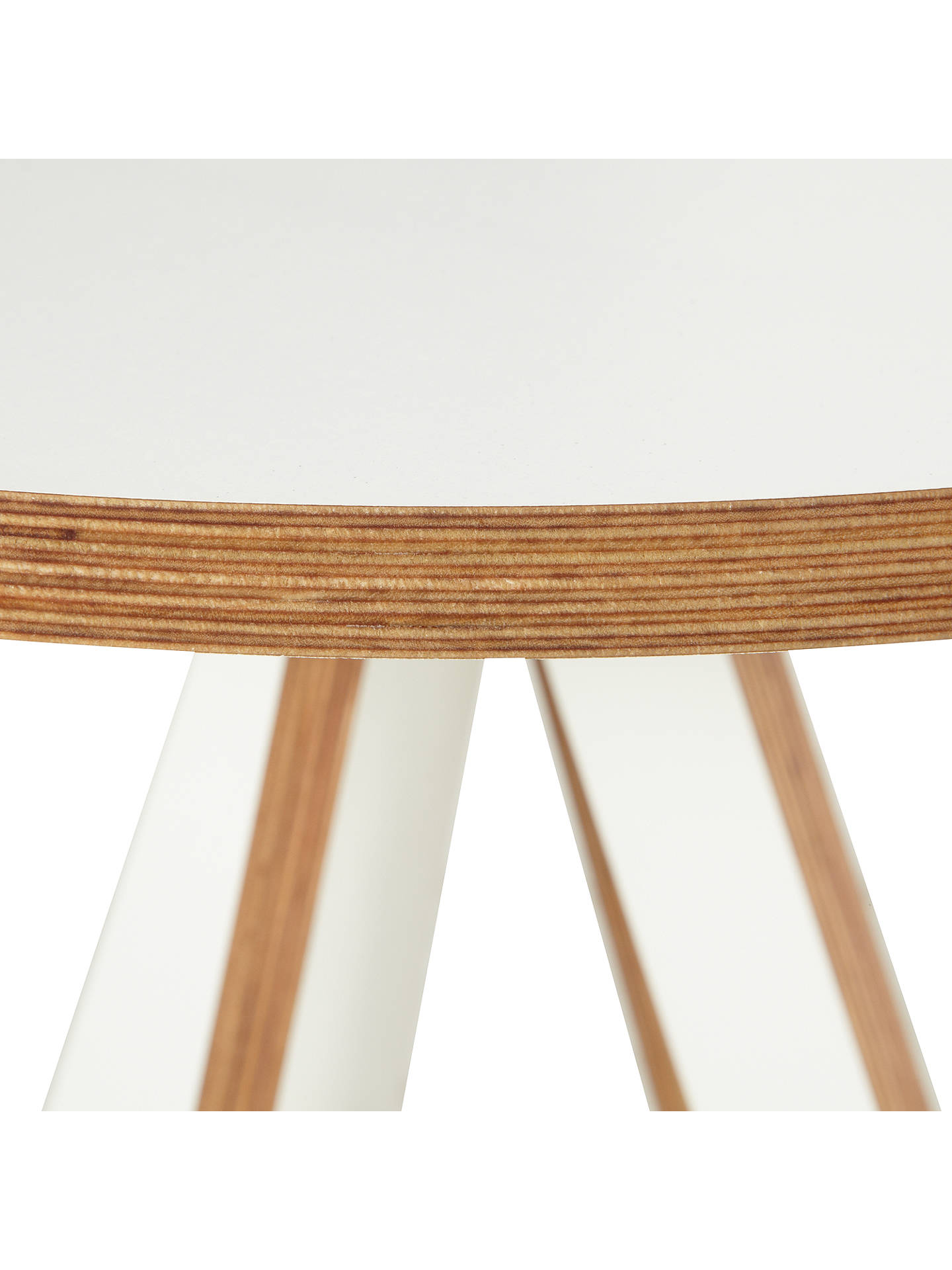 "BuyByALEX ""A"" Side Table, White Online at johnlewis.com"