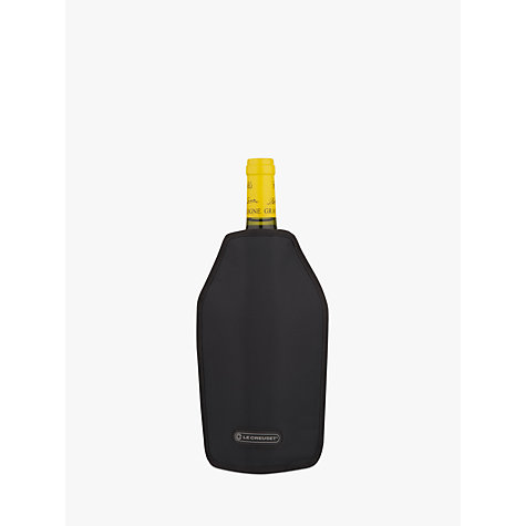 Buy Le Creuset Wine Accessories Cooler Sleeve, Black Online at johnlewis.com