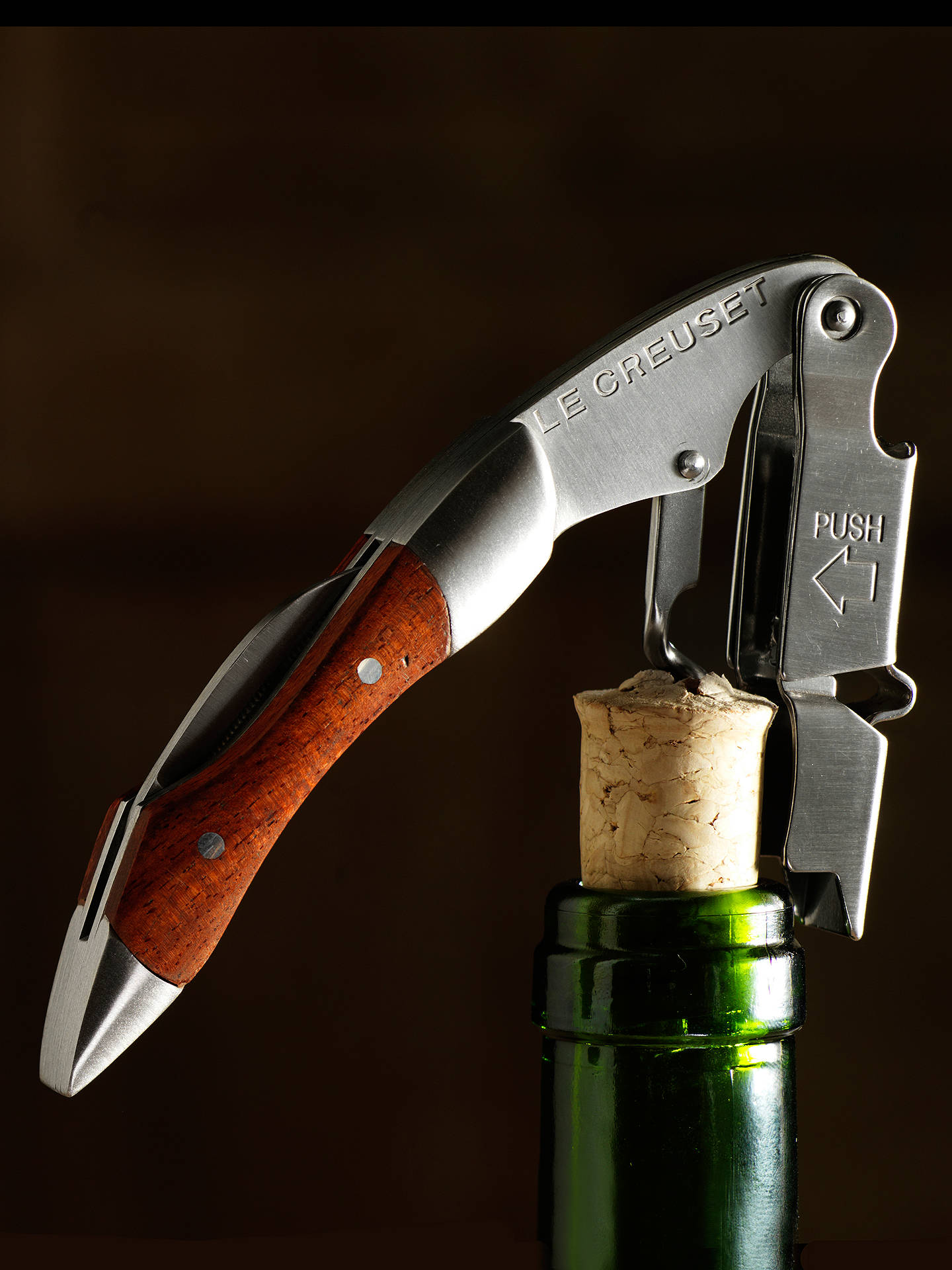 BuyLe Creuset Wine Accessories Waiter's Friend Bottle Opener, Wood Online at johnlewis.com