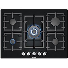 Buy Siemens EP716QB91E Gas Hob, Black Online at johnlewis.com